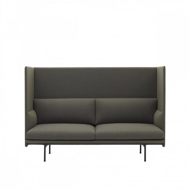 Muuto Outline Highback sofa. 2 eller 3 personers sofa.